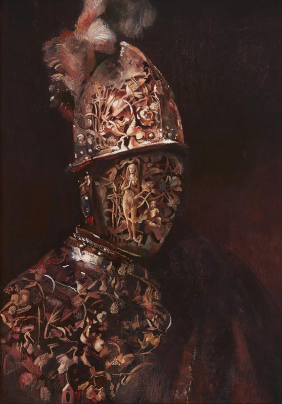 Wolfe von Lenkiewicz, Man with a Gold Helmet, 2018