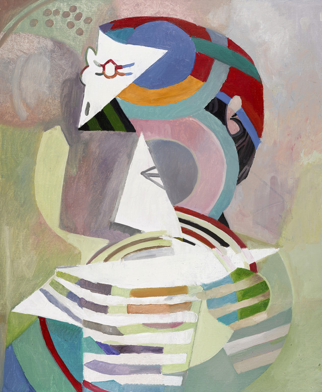 Wolfe von Lenkiewicz, Picasso in a Striped Shirt, 2017