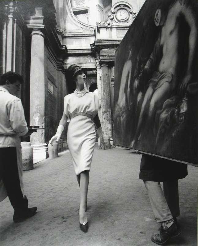Simone + Painting + Coffee, Rome, 1960