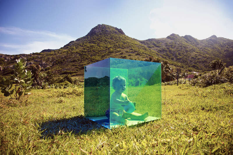 Untitled (Baby in Box, St. Barts)