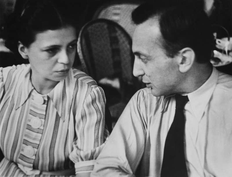 Elizabeth and I in Cafe du Dome, Paris, 1931