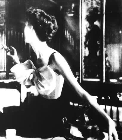 Lillian Bassman, Across the Restaurant at Le Grand Vefour, Barbara Mullen, Harper's Bazaar, Paris, April, 1949