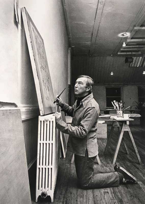 Hans Namuth, Jasper Johns at Simca Print Artists, New York, 1976