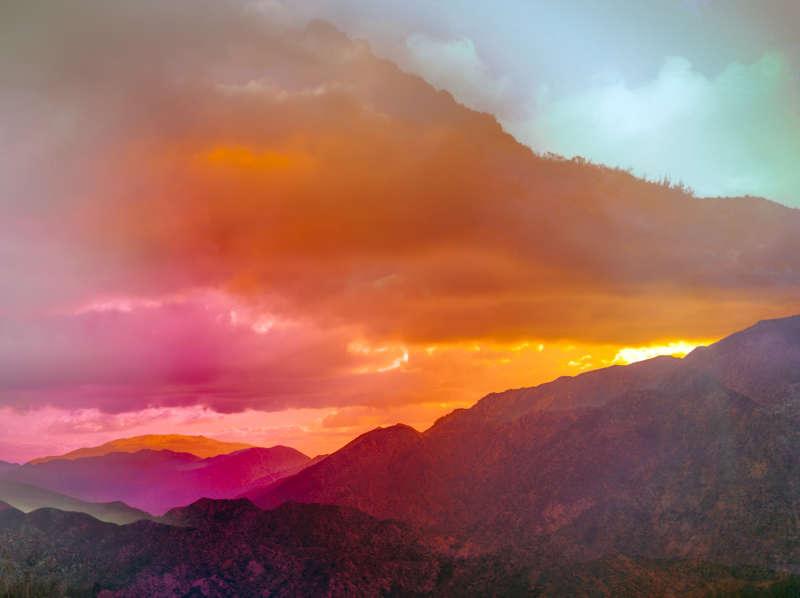 Terri Loewenthal, Psychscape 661 (San Gabriel Peak, CA), 2018