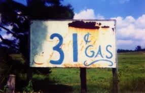 31 Cent Gasoline Sign, Near Greensboro Alabama, 1964