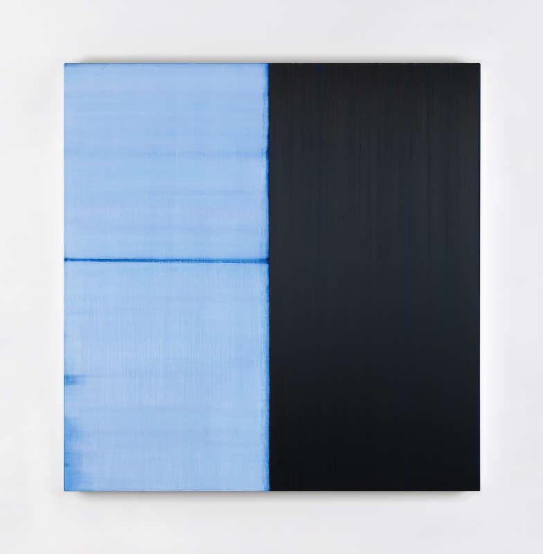 Callum Innes, Untitled Lamp Black / Delft Blue, 2021
