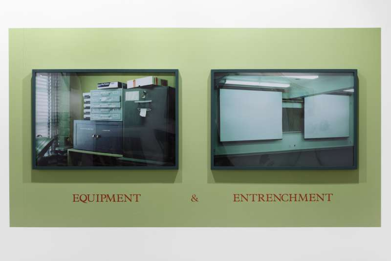 Louise Lawler, Equipment & Entrenchment, 1986