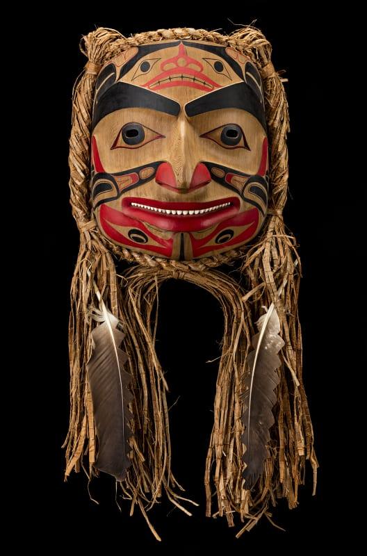 ROBERT DAVIDSON (GUUD SANS GLANS), C.M., O.B.C., (1946-) HAIDA, MASSET / WHITE ROCK, S'gan Mask (Killer Whale Mask), 1990