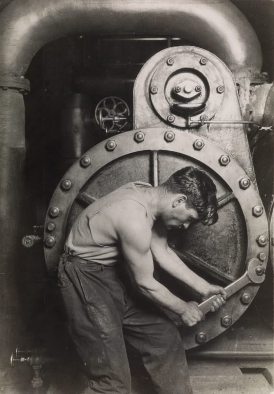Lewis Hine, Powerhouse Mechanic, 1920