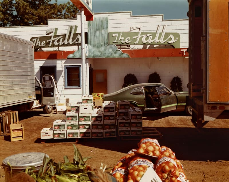 Stephen Shore, U.S. 10, Post Falls, Idaho, August 25, 1974