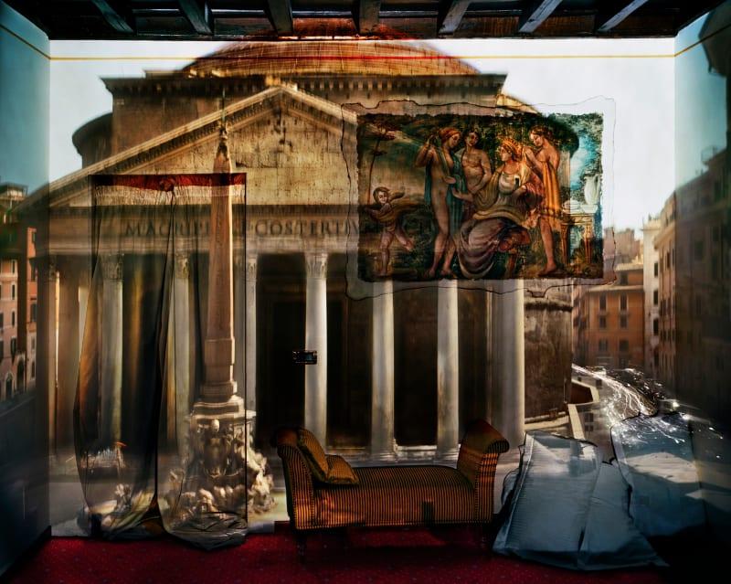 Abelardo Morell, Camera Obscura: The Pantheon in Hotel Albergo del Sole Room #111, Rome, Italy, 2008