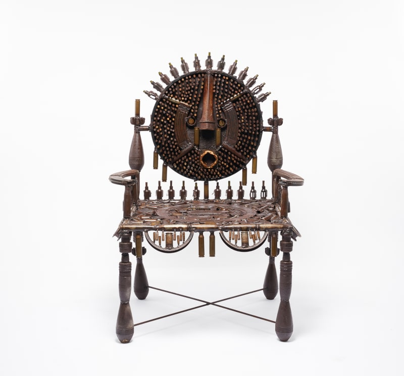 Goncalo Mabunda  Untitled (throne), 2017  Mixed media  95 x 130 x 76 cm