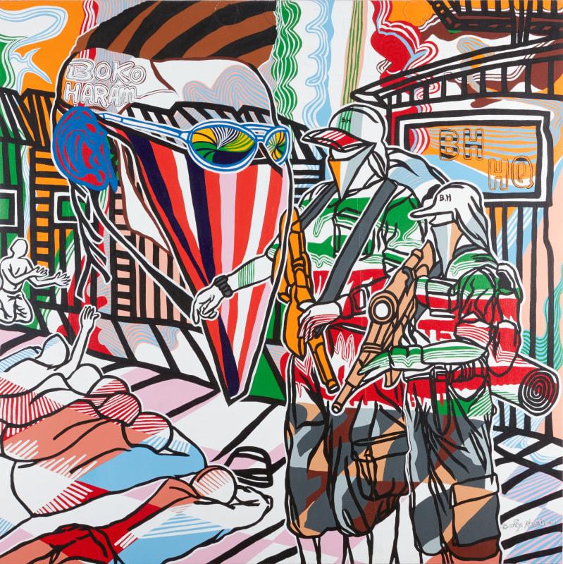 Boris Nzebo  Blood on the Painting, 2016  Acrylic on canvas  150 cm x 150 cm