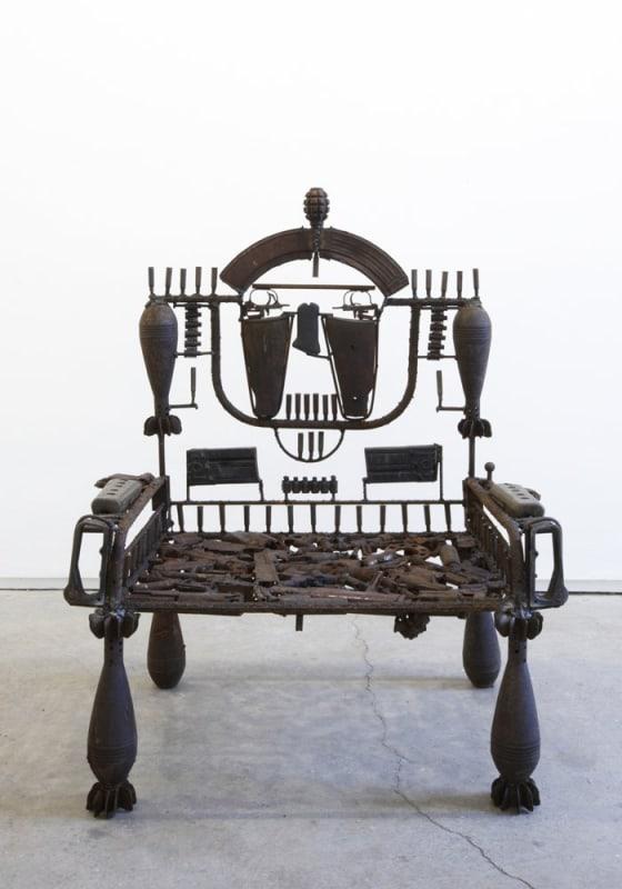 Goncalo Mabunda  Untitled (Throne), 2011  Decommissioned welded arms  106 x 59 x 92 cm