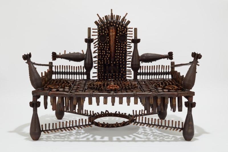 Goncalo Mabunda  The Impenetrable Throne, 2019  Mixed media  98 x 133 x 67 cm