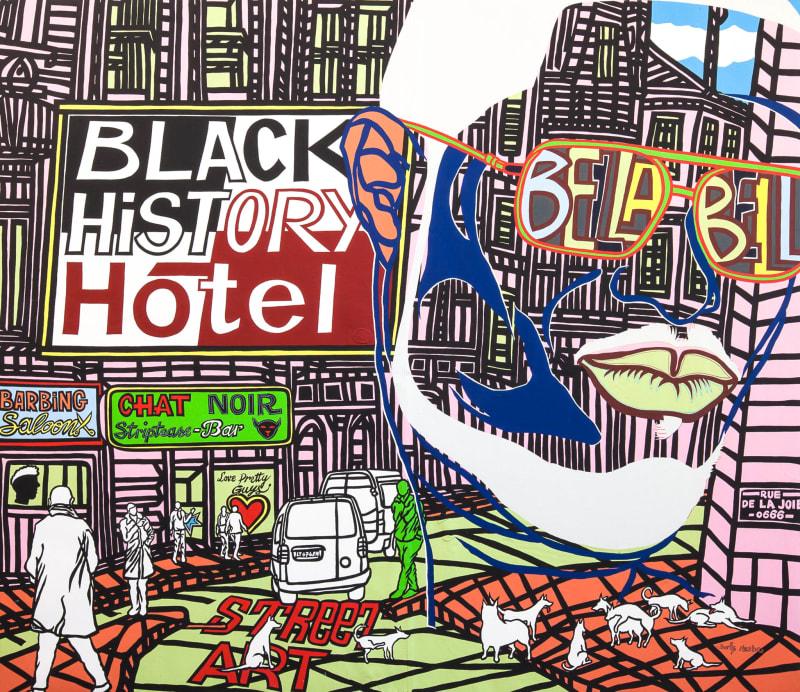Boris Nzebo  Hot Town, 2015  Acrylic on canvas  200 x 230 cm