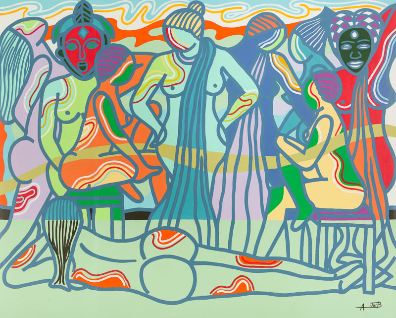 Ajarb Bernard Ategwa  Night Princesses, 2016  160 x 200 cm