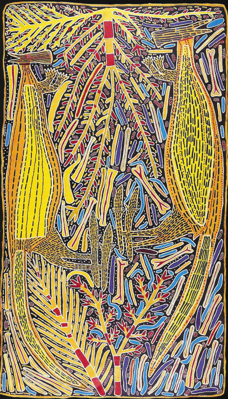 Sambo Barra Barra, Two Yellow Kangaroos, 1995