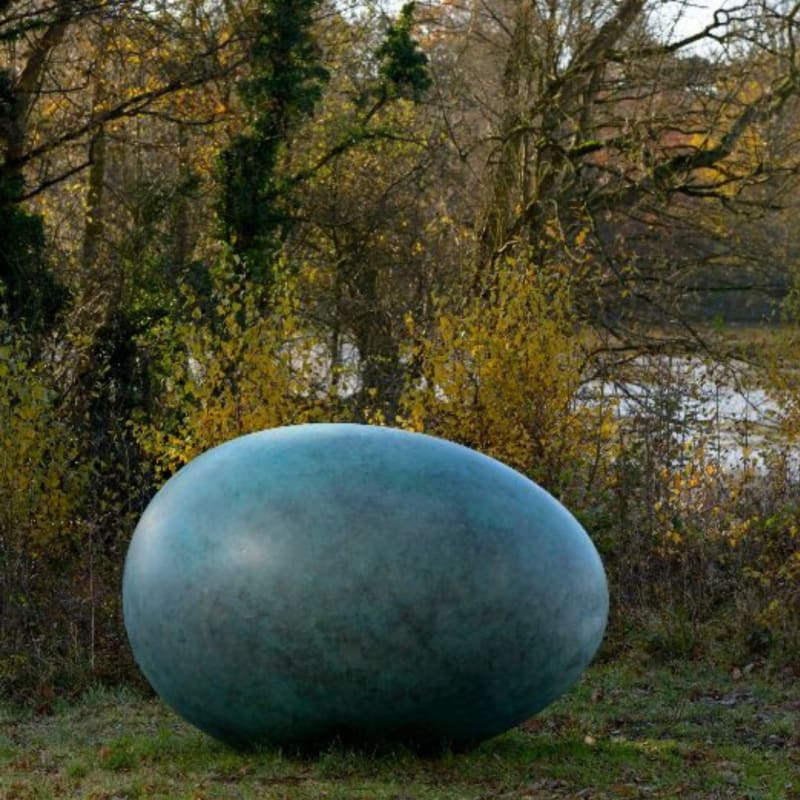 OEUVRE (VERDIGRIS) by GAVING TURK AT Yorkshire Sculpture Park