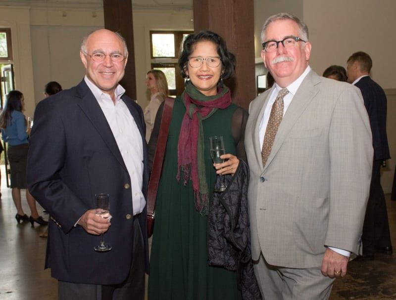 From Paper City magazine: Geoffrey Koslov, Bennie Flores Ansell, Steven Evans