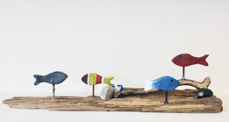 Swimming Fish created by children attending the Turnstone Studio art classes