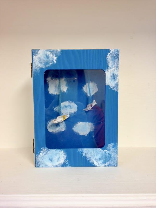 Joseph Cornell inspired boxes created in the children's class at Turnstone Studio