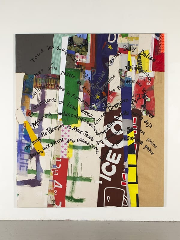 Joe Fyfe, Le Jet d'eau, 2018, Cotton, acrylic, canvas, vinyl, 80 x 68 inches