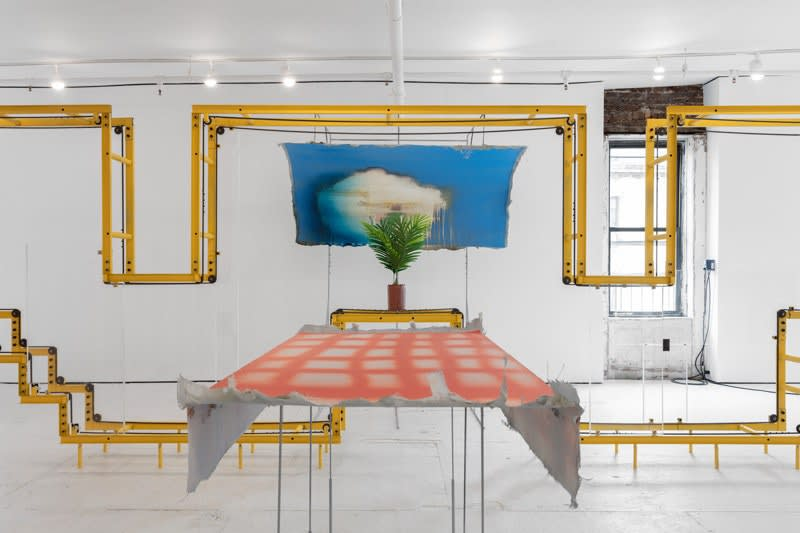 Dorian Gaudin, The Coffee Cup Spring, installation view. Courtesy the artist and Nathalie Karg Gallery.