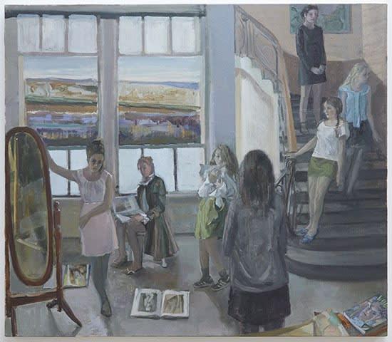 Vera Iliatova, The Big Reveal, 2020; oil on linen, 26 x 30 inches. Courtesy of Monya Rowe Gallery, New York.