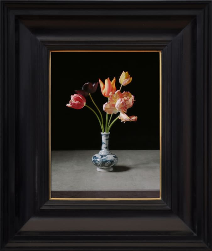Rob and Nick Carter (b. 1968; b. 1969) Transforming Five Tulips in a Wan-Li Vase, 2017 32-minute looped film, framed...