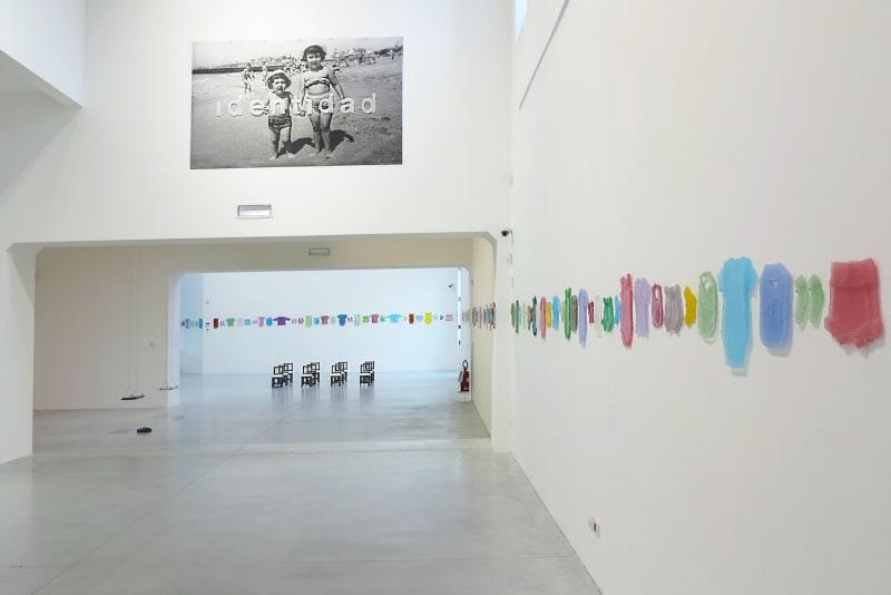 """Silvia Levenson, exhibition view of """"Identidad Desaparecida,"""" 2016. Murano Glass Museum, Venice. photo: paolo sacchi."""