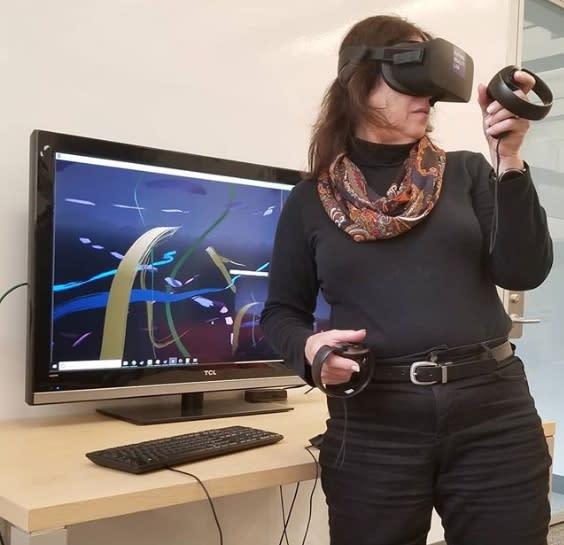 Darcy Gerbarg at Future Reality Lab, New York University, 2019