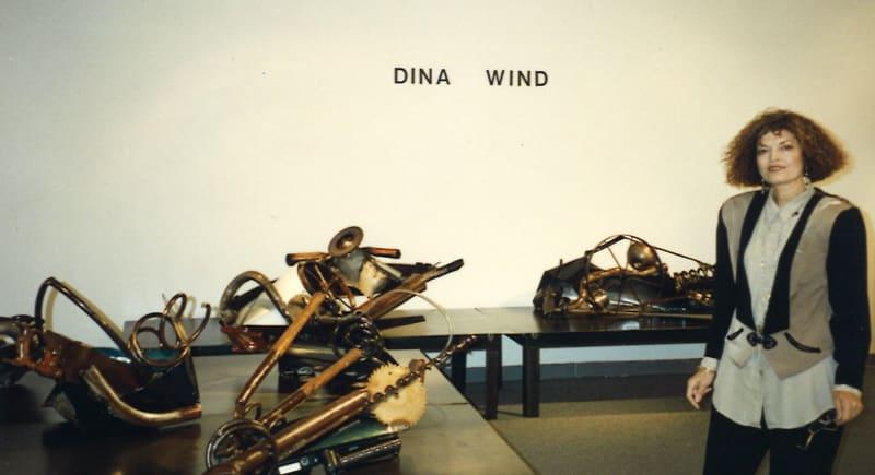 Dina at her Nexus Gallery, Philadelphia opening, 1993