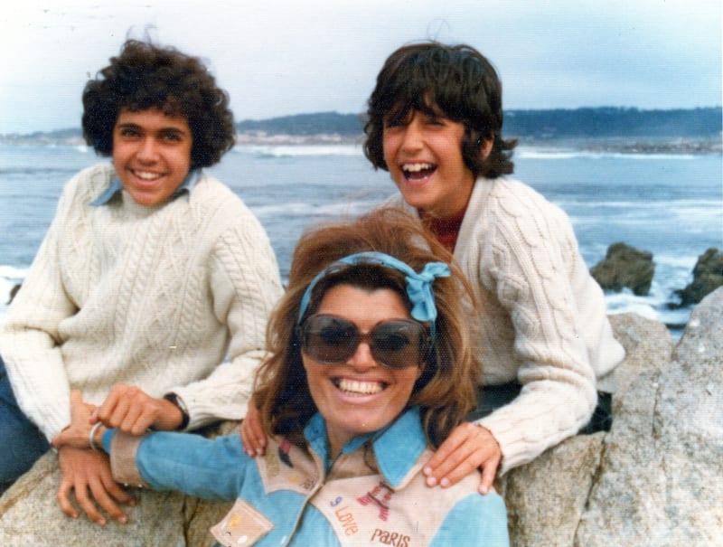Dina, John and Lee in Australia, 1976