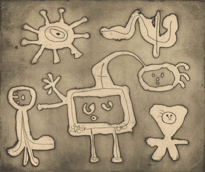 Joan Miró, Serie I, 1947 printed intaglio
