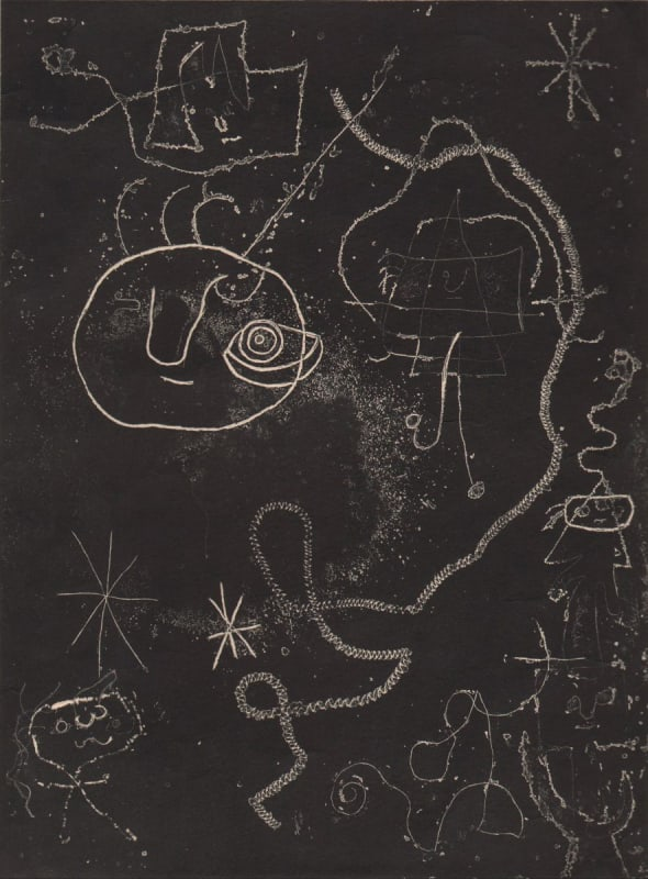 Joan Miró, Girl Jumping Roap, 1947