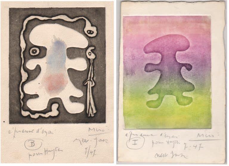 Joan Miró, L'Antitete, pair B-I
