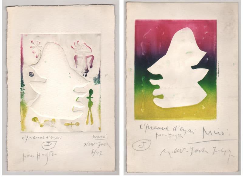 Joan Miró, L-Antitete, 1947, pair-D-J