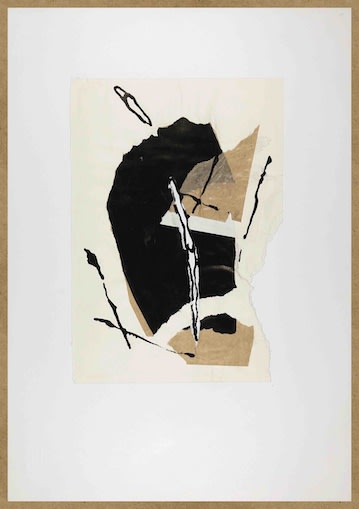 Bert Theis, Pays sage 15, 1991, Collage/drawing, ripped paper and china ink, 48 x 33 cm Courtesy: BertTheis Archive and Erna Hecey Gallery