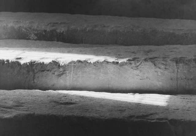 Jeff Weber, The Limestones, Solar Boat Museum, Giza, Egypt, 2013, Gelatin silver print, 5 × 7 in.