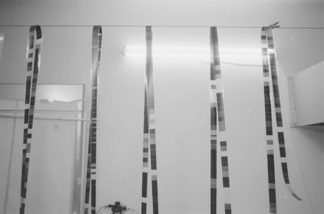 "Jeff Weber, Berlin Studio, ""Untitled (Neural Networks, nn_oxb/1)"" 35mm film (1440 frames, 6 greys), first version, Berlin, 2020, Gelatin silver print, 5 x 7 in."