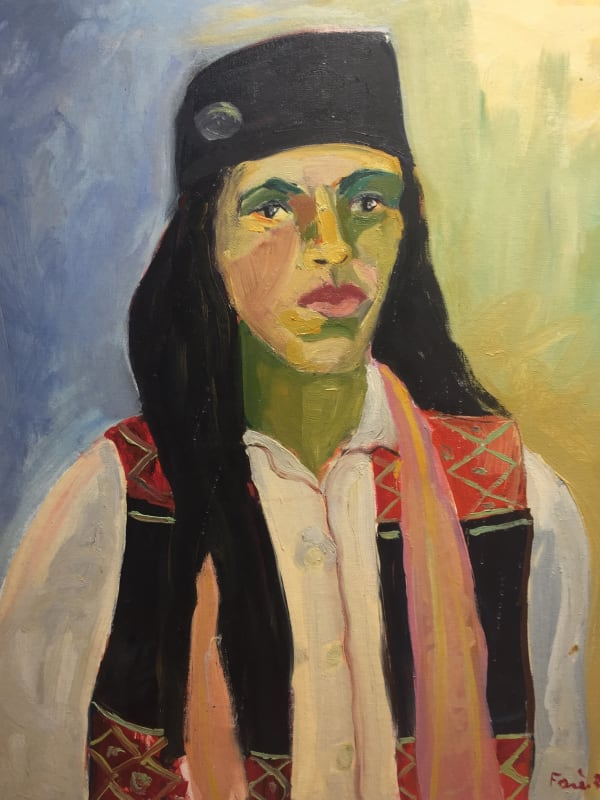 Fares Rizk, The Circassian Woman, 1986, Oil on board, 75x60cm