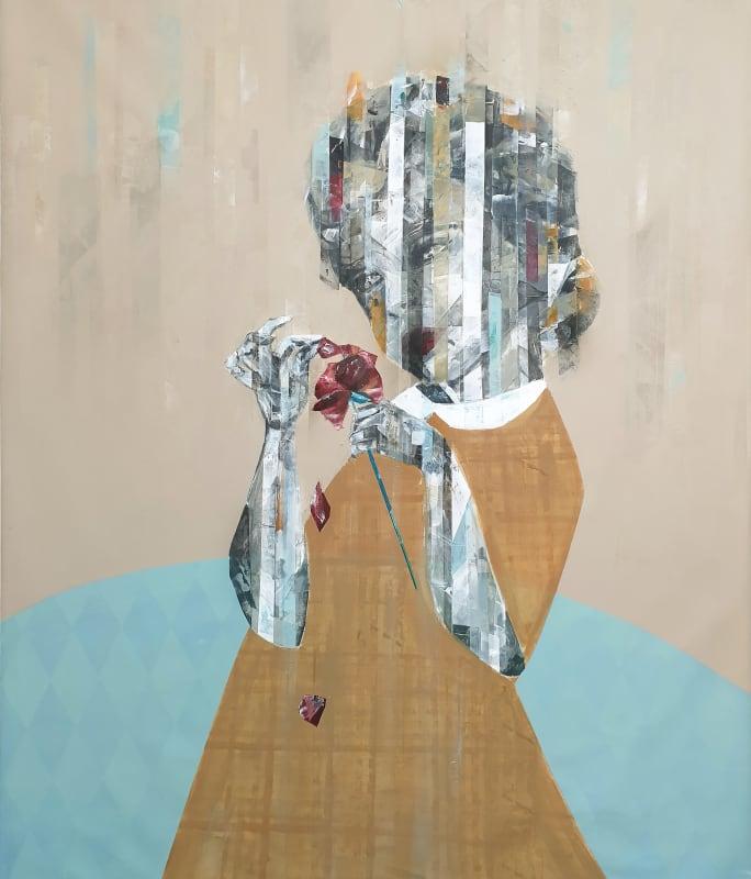 Besher Koushaji, Confusion, 2020, Acrylic on canvas, 140x120cm