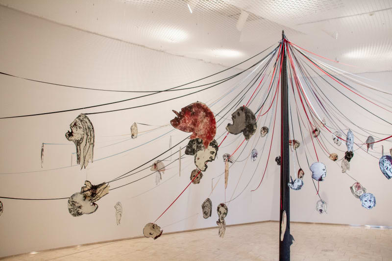 Installation view: Nancy Spero: Acts of Rebellion, Lillehammer Art Museum, Norway, September 12, 2020–January 24, 2021. Photo courtesy of Lillehammer...