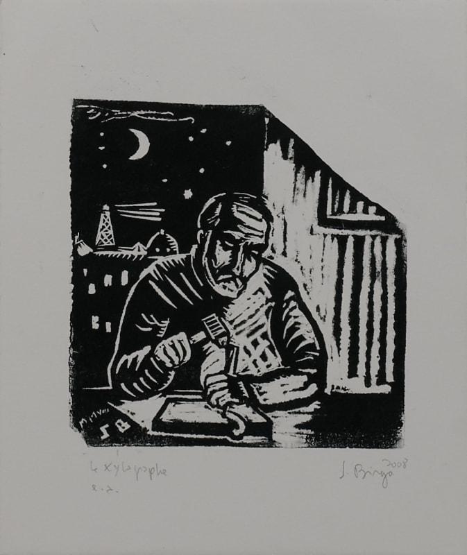 Sergio BIRGA - Le xylographe (autoportrait)