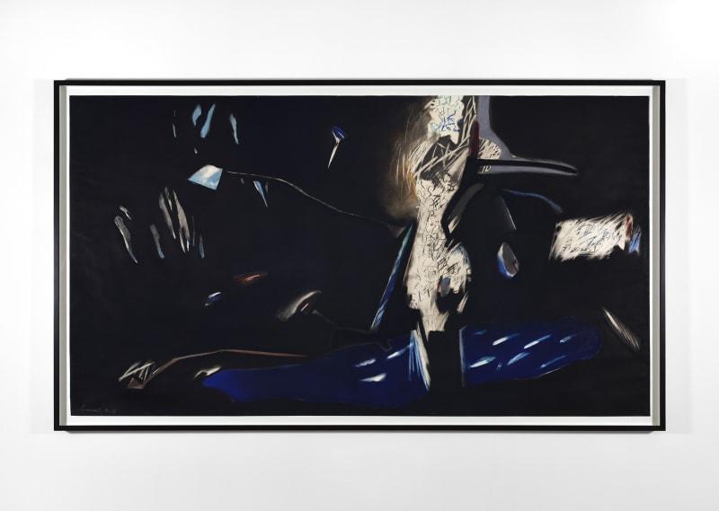 Le Vol de l'Enfant, 1984-1985, Pastel, crayon, encre sur papier Courtesy de l'artiste et de la Galerie Christophe Gaillard. © Daniel Pommereulle, ADAGP, Paris. © Photo: Rebecca Fanuele.