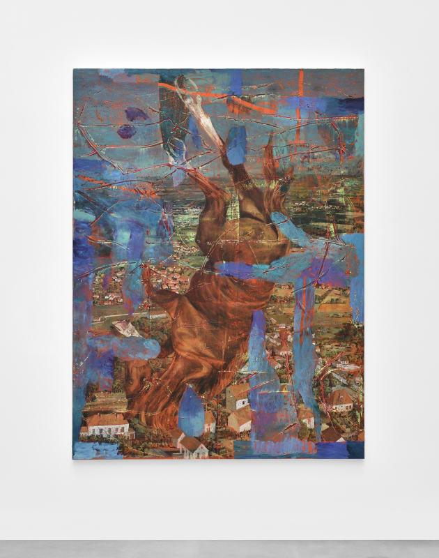 Julien Des Monstiers, Idéaline, 2021. Huile sur toile / OIl on canvas 210 x 160 cm / 82 5/8 x 63 in