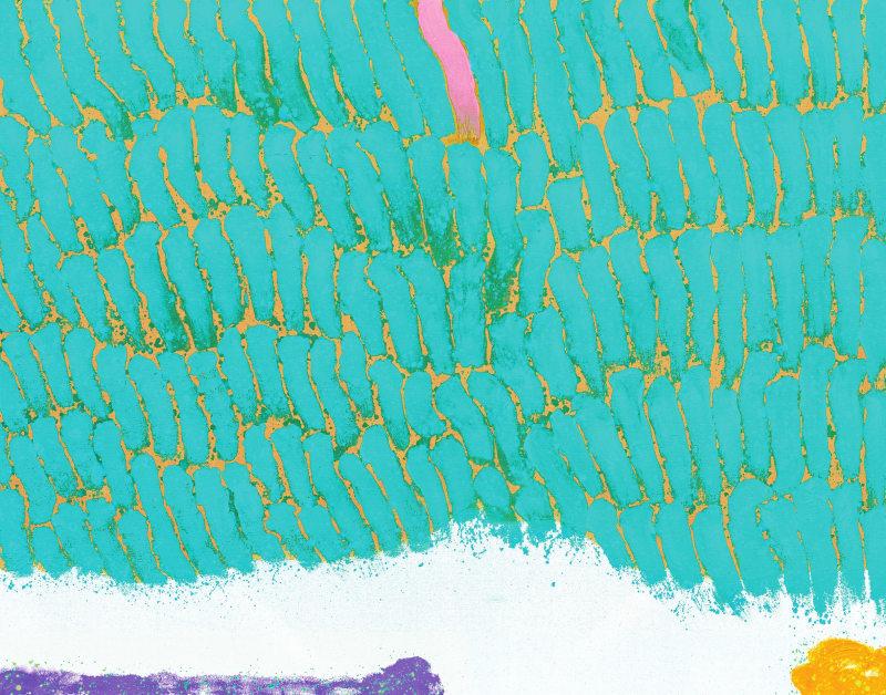 Hsiao Chin La forza di vita-1, 1999 Acrylic on canvas 110 x 140cm