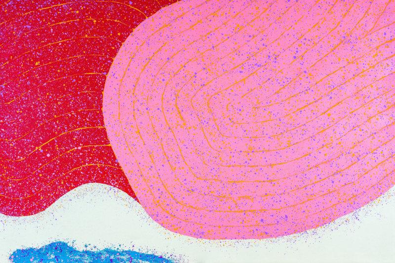 Hsiao Chin Concerto-5, 1999 Acrylic on canvas 120 x 180cm