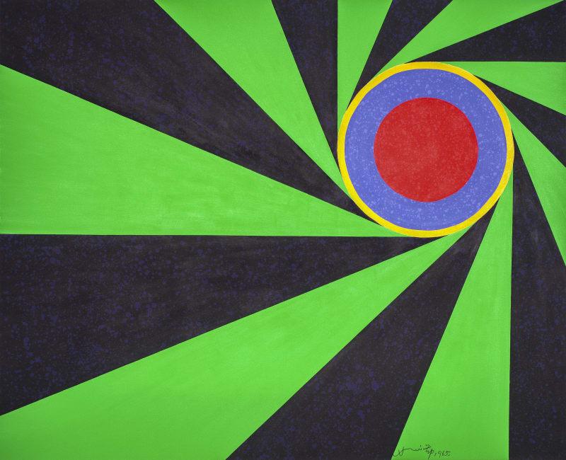 Hsiao Chin The Universe Projection-4 (La Proiezione dell'universo-4), 1965 Acrylic on canvas 130 x 160 cm